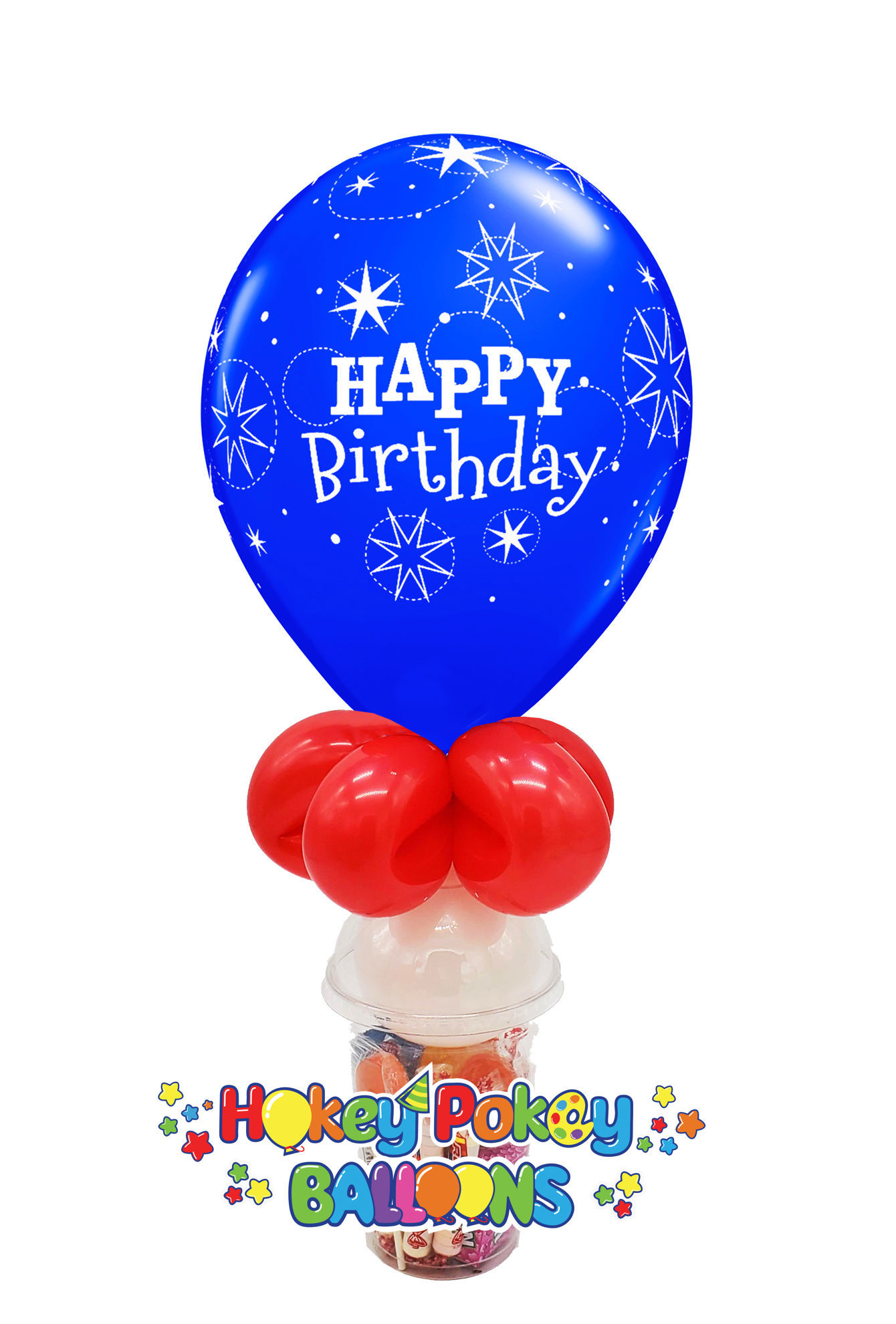 Picture of 11'' Birthday Sparkle Blue - Balloon Candy Cup
