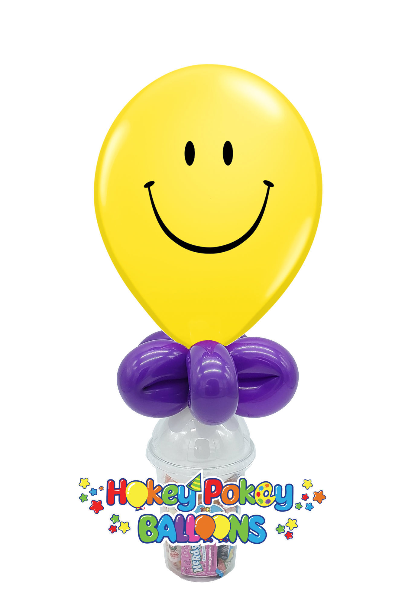 """Picture of 11"""" Smile Face -  Balloon Candy Cup"""
