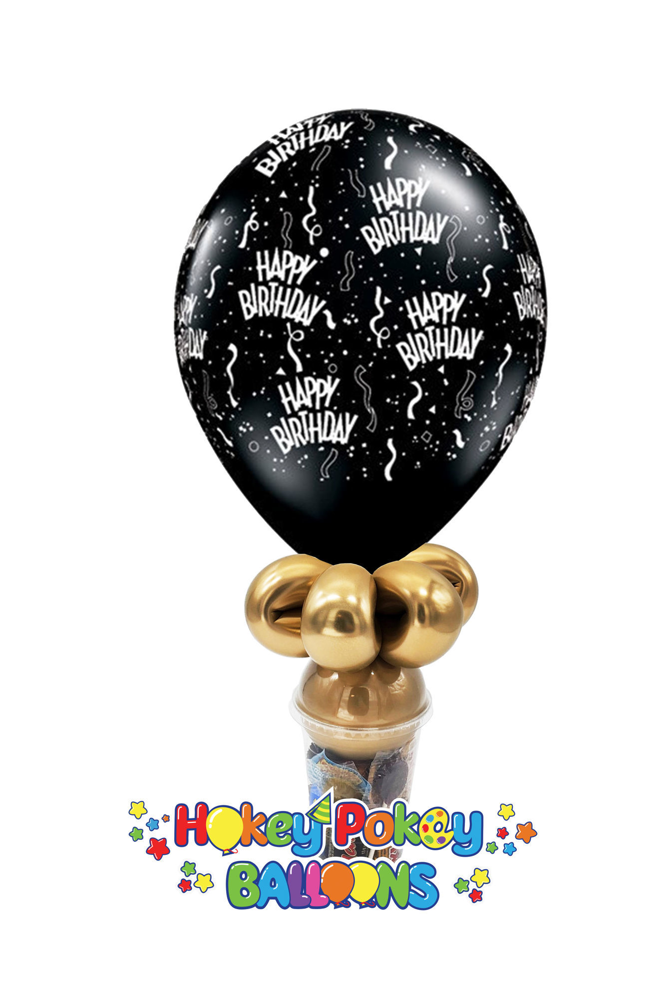 """Picture of 11"""" Birthday Around -  Balloon Candy Cup"""