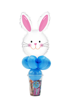 Picture of Happy Bunny Head - Balloon Candy Cup