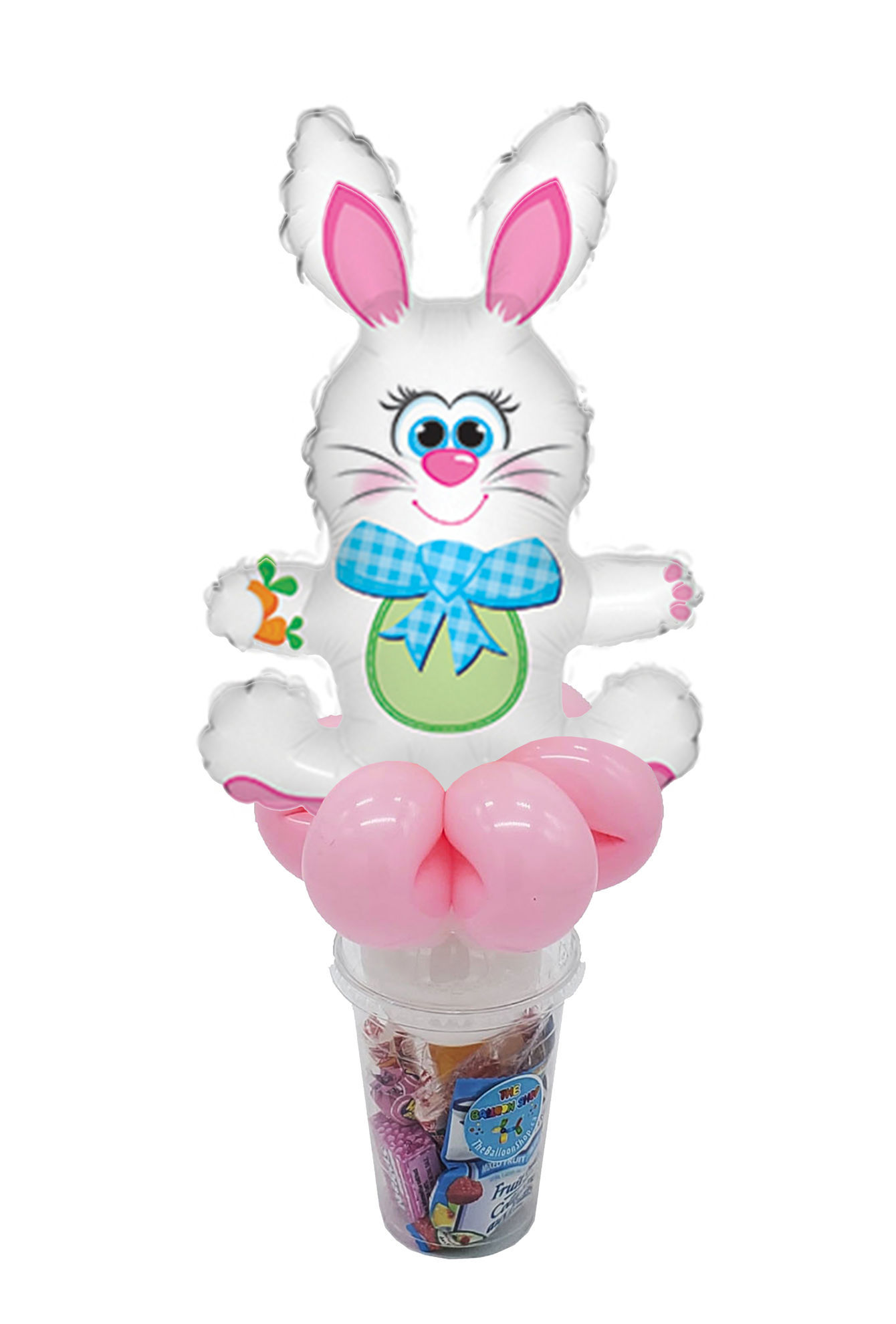 Picture of Plaid Bow Bunny - Balloon Candy Cup