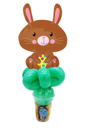 Picture of Easter Bunny with Yellow Egg - Balloon Candy Cup
