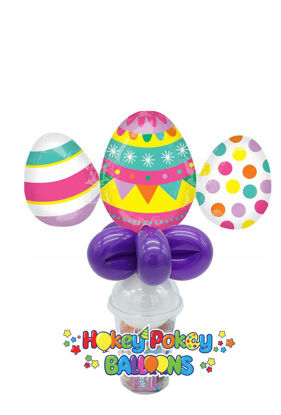 Picture of Easter Eggs Trio - Balloon Candy Cup