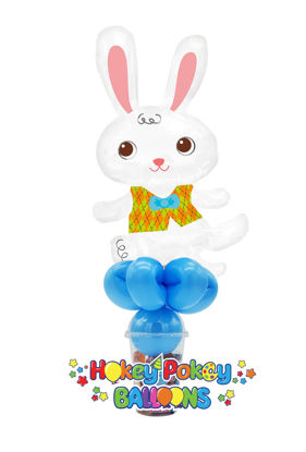 Picture of Easter Bunny with Vest - Balloon Candy Cup