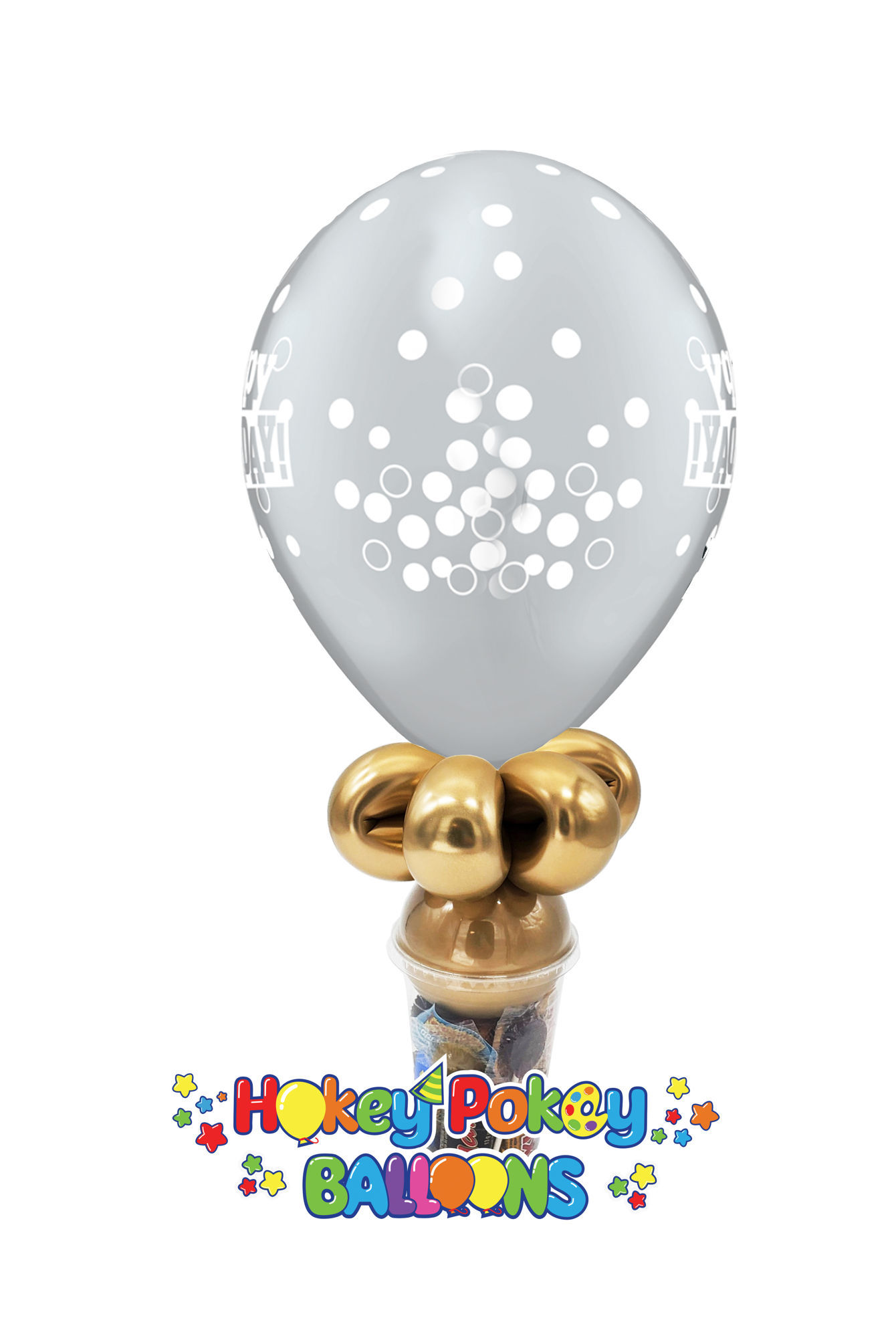"Picture of 11"" Birthday  Confetti -  Balloon Candy Cup"