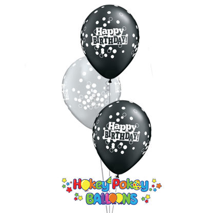 Picture of 11'' Birthday Confetti - Balloon Bouquet (up to 13 balloons)