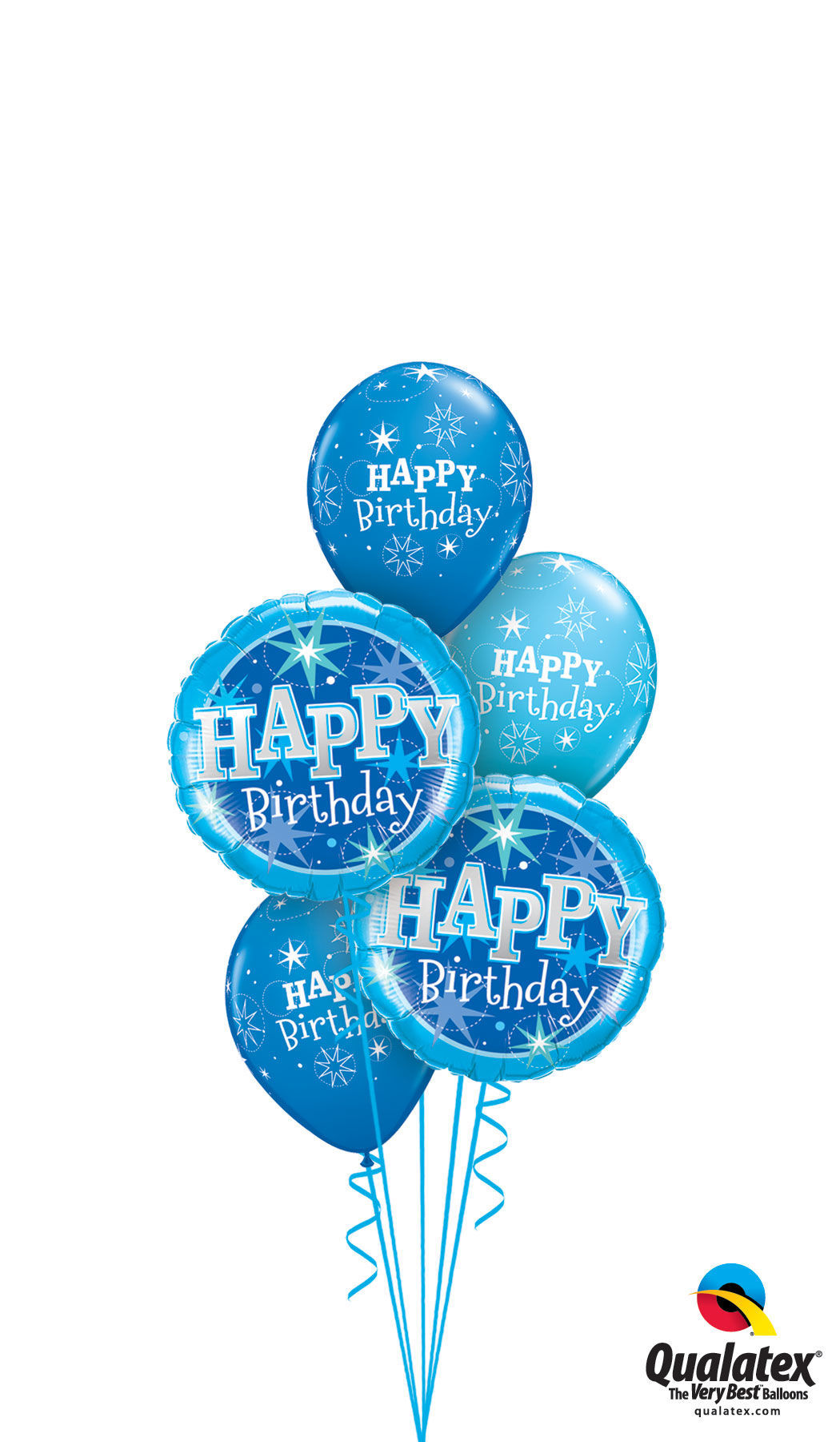 Picture of Birthday Sparkle Balloon Bouquet of 5