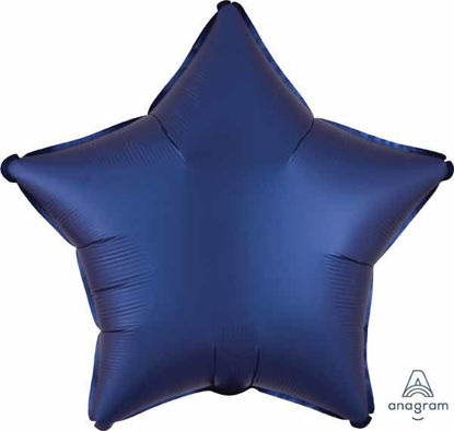 "Picture of 19"" Satin Luxe Navy Blue Star Foil Balloon (helium-filled)"
