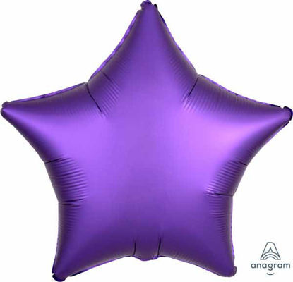 "Picture of 19"" Satin Luxe Purple Royale Star Foil Balloon (helium-filled)"