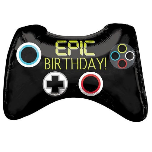 """Picture of 28"""" Epic Birthday Video Game Controller - Foil Balloon  (helium-filled)"""