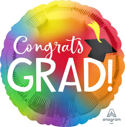 Picture of 28″ Colorful Grad  Jumbo  Foil Balloon (helium-filled)