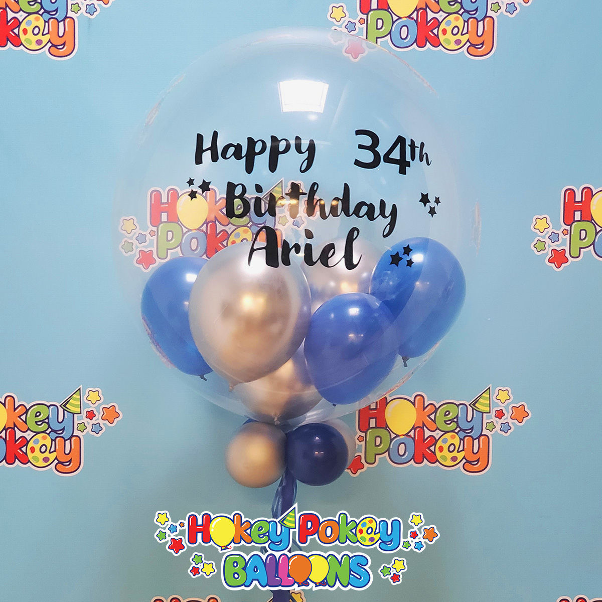 """Picture of Personalized 24"""" Stuffed Deco Bubble"""