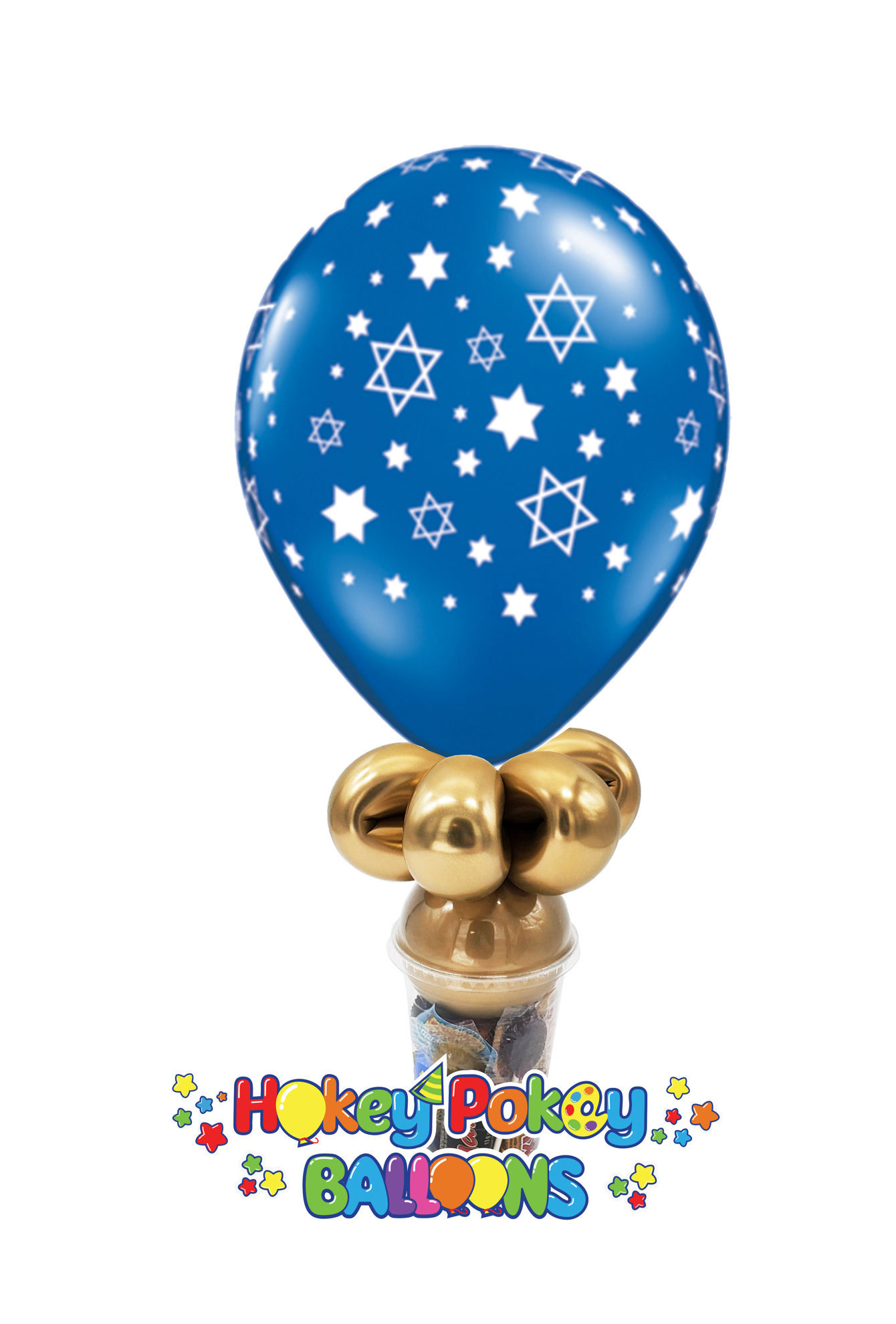Picture of 11'' Star of David -  Balloon Candy Cup