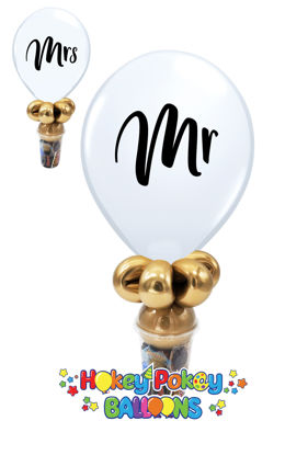 Picture of 11'' Mr. and Mrs. -  Balloon Candy Cup