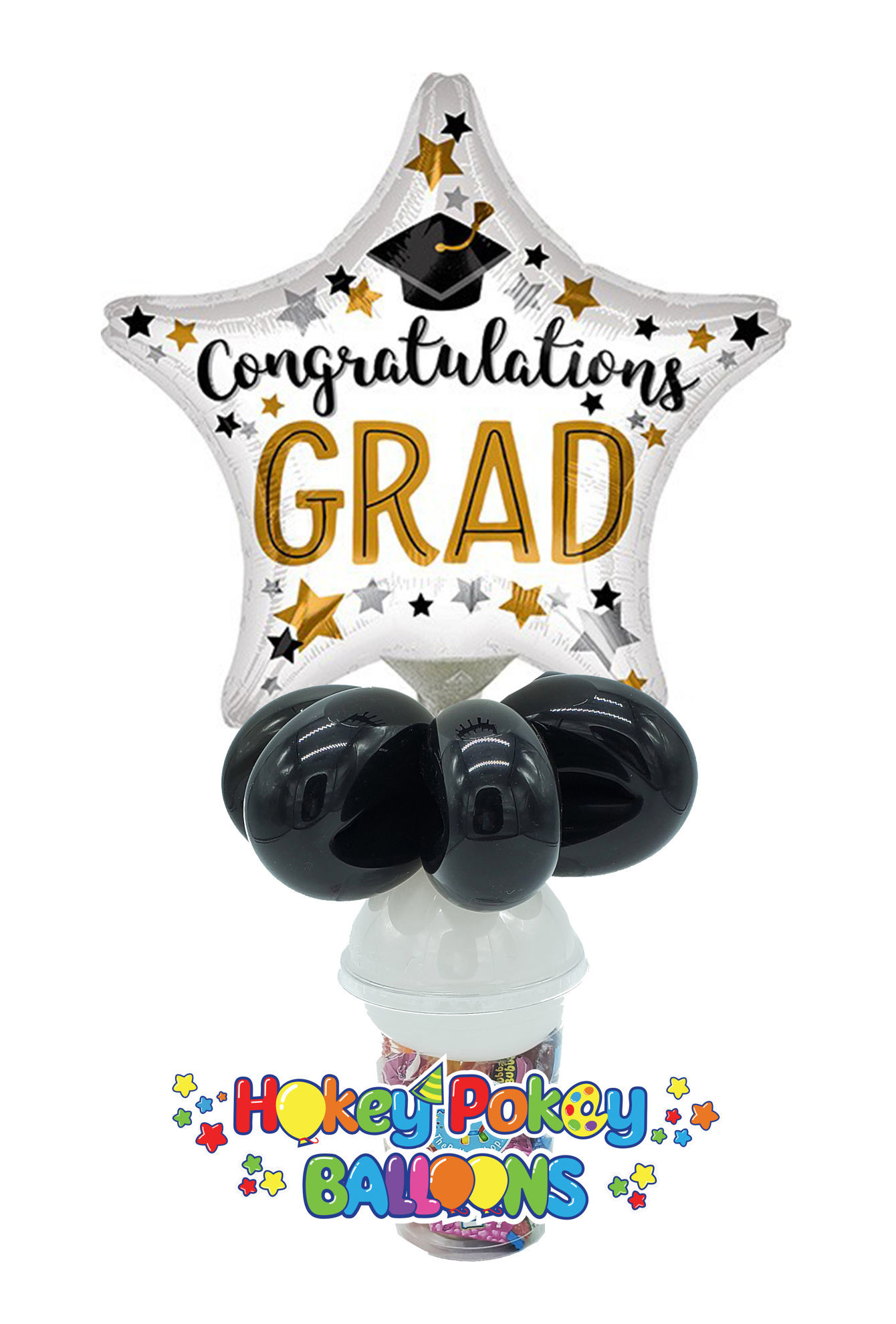 Picture of Congratulations Grad Star  - Balloon Candy Cup