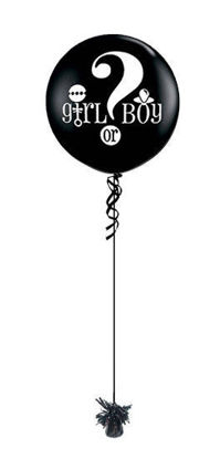 Picture of Big Question Girl or Boy Gender Reveal  Giant Balloon (helium-filled)