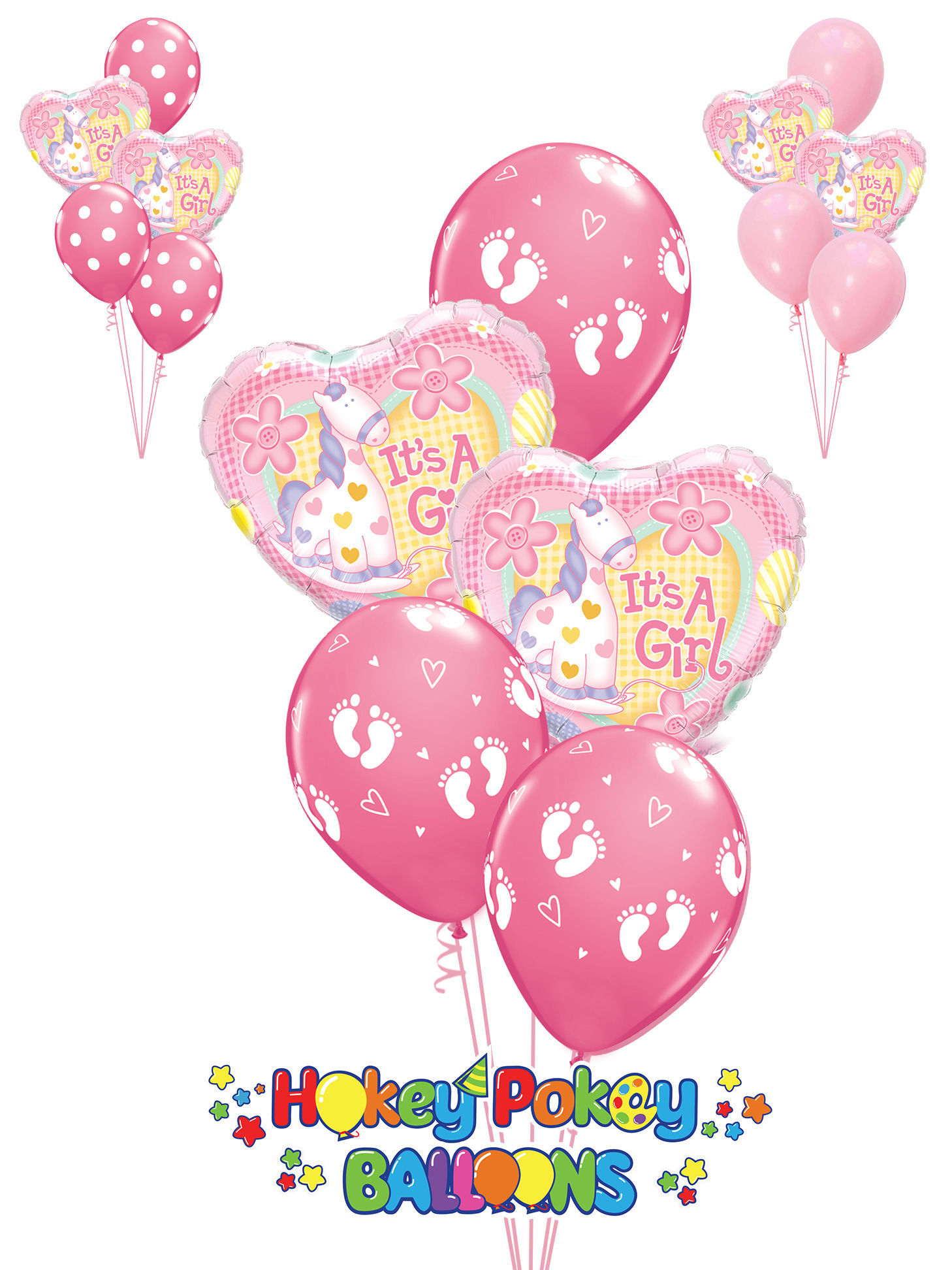 Picture of It's A Girl -  Soft Pony Balloon Bouquet