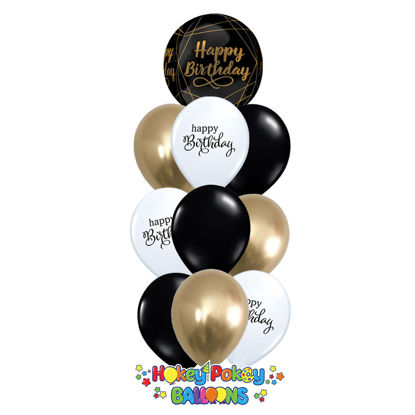 Picture of Elegant Birthday Balloon Bouquet of 10