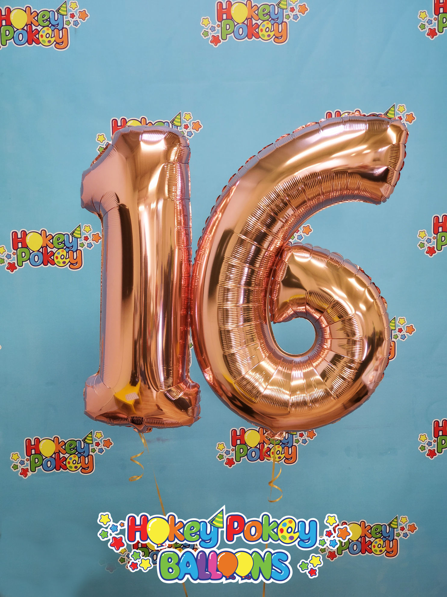 Picture of 26'' Rose Gold Number 1 - Foil Balloon (helium-filled)