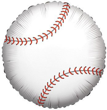 "Picture of 18"" Baseball Foil Balloon (helium-filled)"