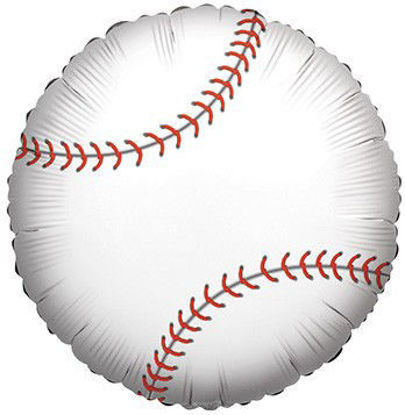 """Picture of 18"""" Baseball Foil Balloon (helium-filled)"""