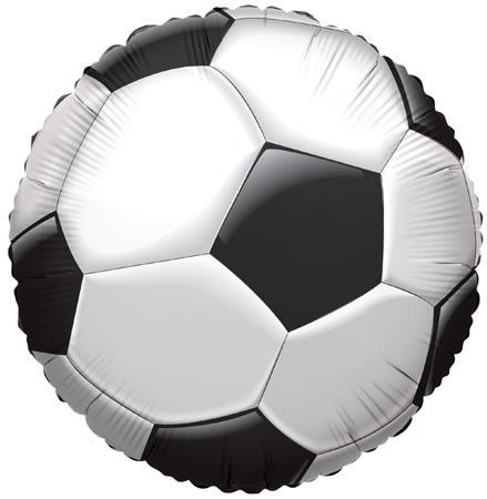 """Picture of 18"""" Soccer Ball Foil Balloon (helium-filled)"""