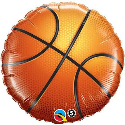 """Picture of 18"""" Basketball Foil Balloon (helium-filled)"""