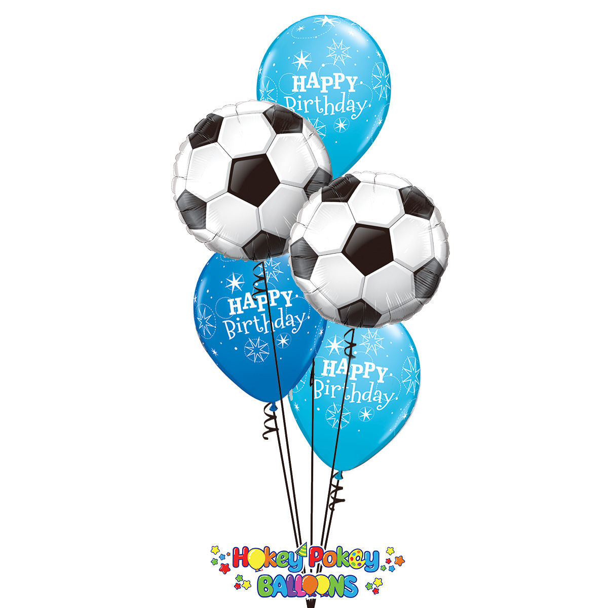 Picture of Soccer Birthday - Balloon Bouquet (5 pc)