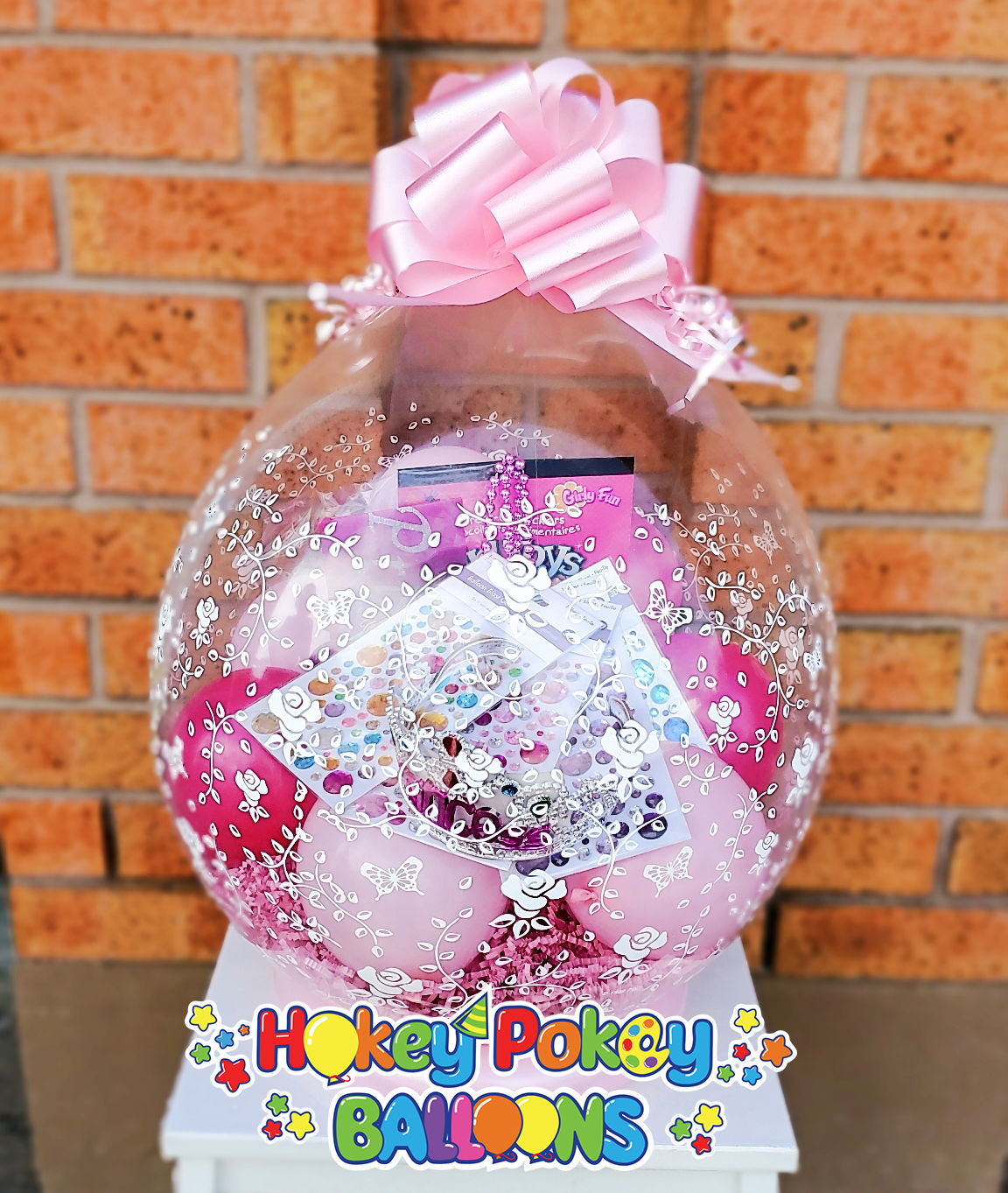 Picture of Birthday Princess Stuffed Balloon Gift with Bow