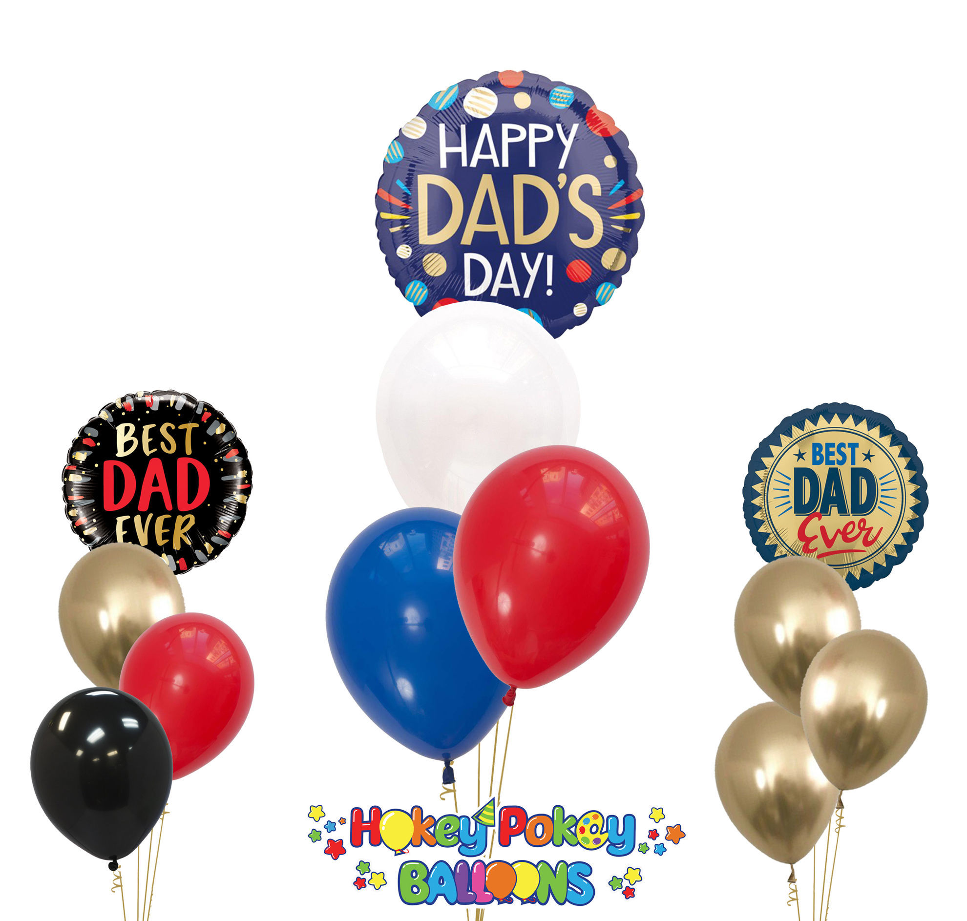 Picture of Happy Father's Day - Balloon Bouquet of 4