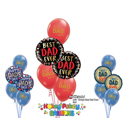 Picture of Best Dad Ever - Balloon Bouquet of 5
