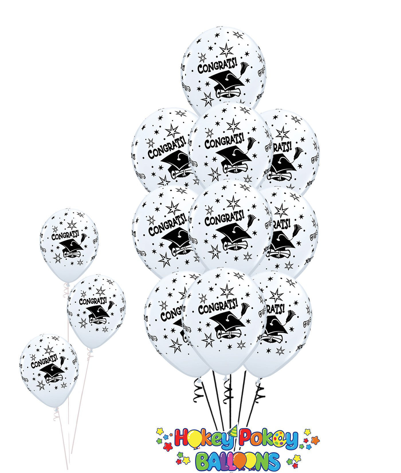 Picture of 11'' Graduation congrats! Balloon Bouquet (up to 13 balloons)