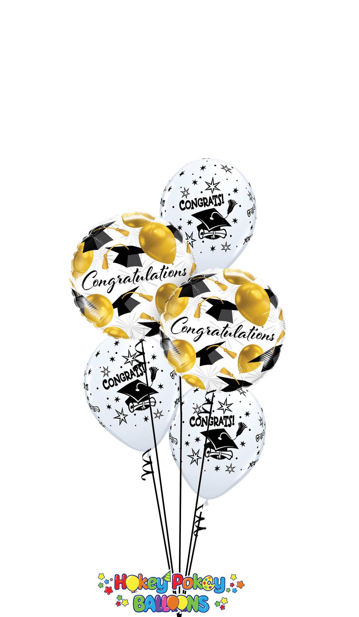 Picture of Graduation Hats Balloon Bouquet (5 pc)