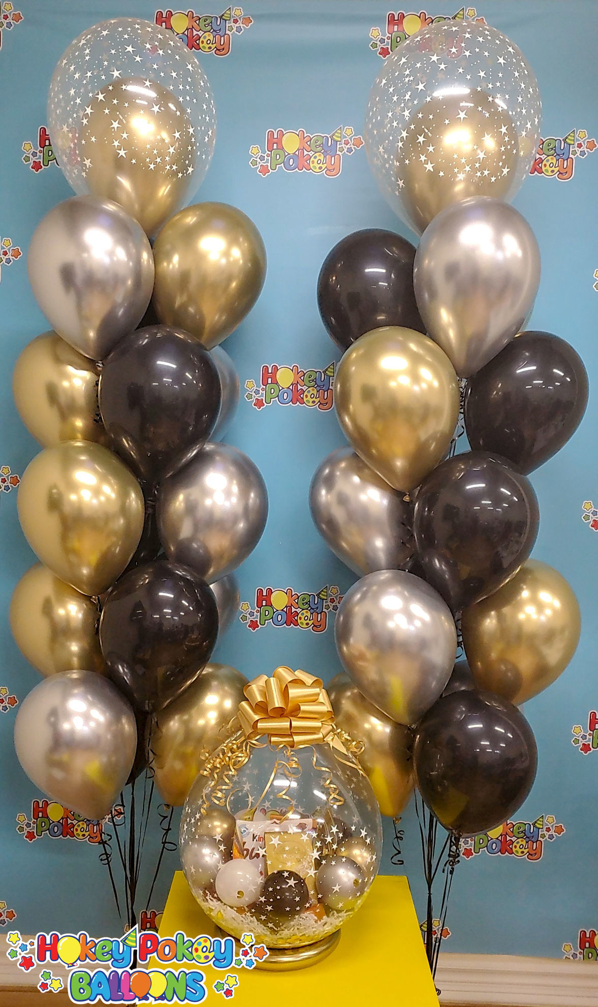 Picture of Chocolate Paradise - Stuffed Balloon Gift with Bow