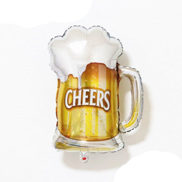 """Picture of 28"""" Cheers! Beer Mug  Foil Balloon  (helium-filled)"""