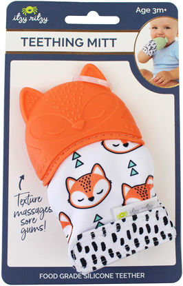 Picture of Itzy Ritzy Silicone Infant Teething Mitten - Fox