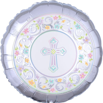 """Picture of 18"""" Blessed Day Foil Balloon (helium-filled)"""