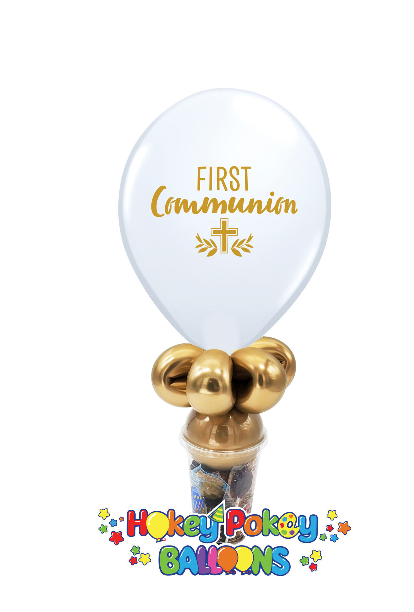Picture of 11'' First Communion  -  Balloon Candy Cup