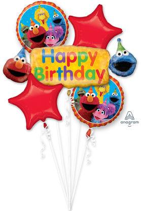 Picture of Sesame Street Fun - Birthday Balloon Bouquet (5pc)