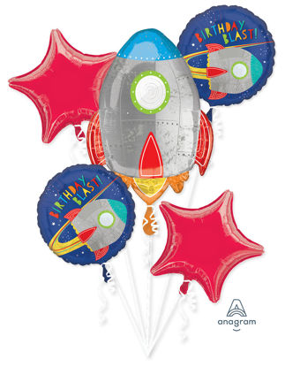 Picture of Blast Off - Space Birthday Balloon Bouquet  (5pc)