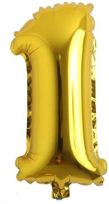 """Picture of 16"""" Gold Foil Number - 1  (air-filled)"""