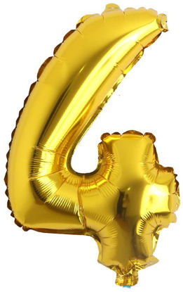 """Picture of 16"""" Gold Foil Number - 4 (air-filled)"""