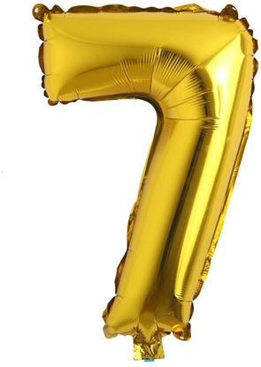 """Picture of 16"""" Gold Foil Number - 7 (air-filled)"""