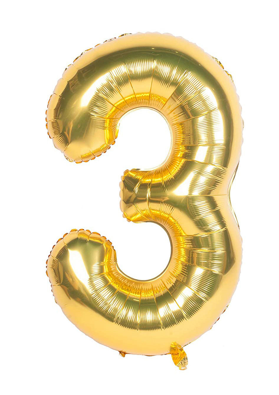Picture of 34'' Foil Balloon Number 3 - Gold (helium-filled)