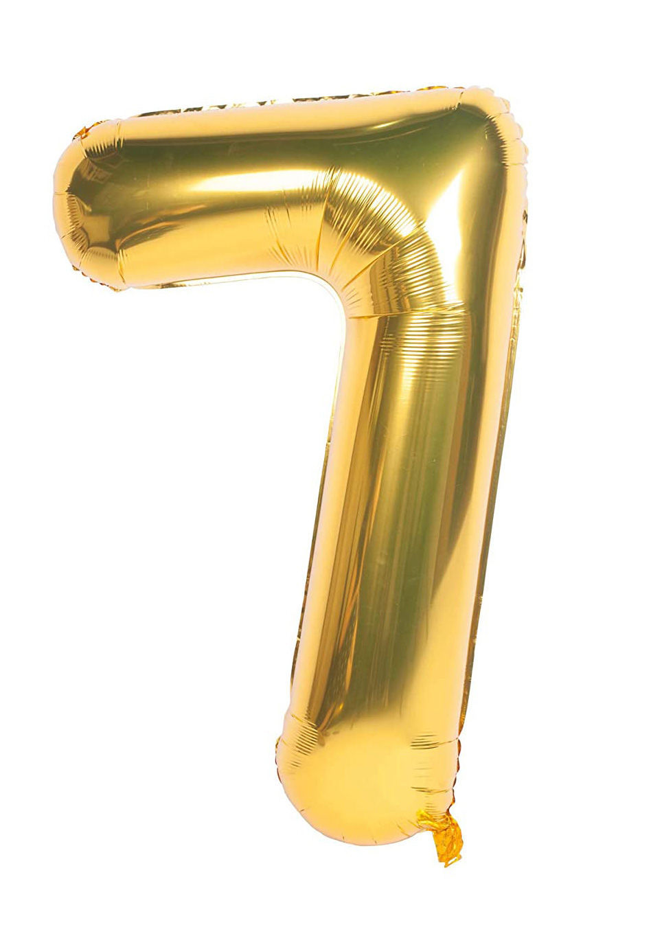 Picture of 34'' Foil Balloon Number 7 - Gold (helium-filled)