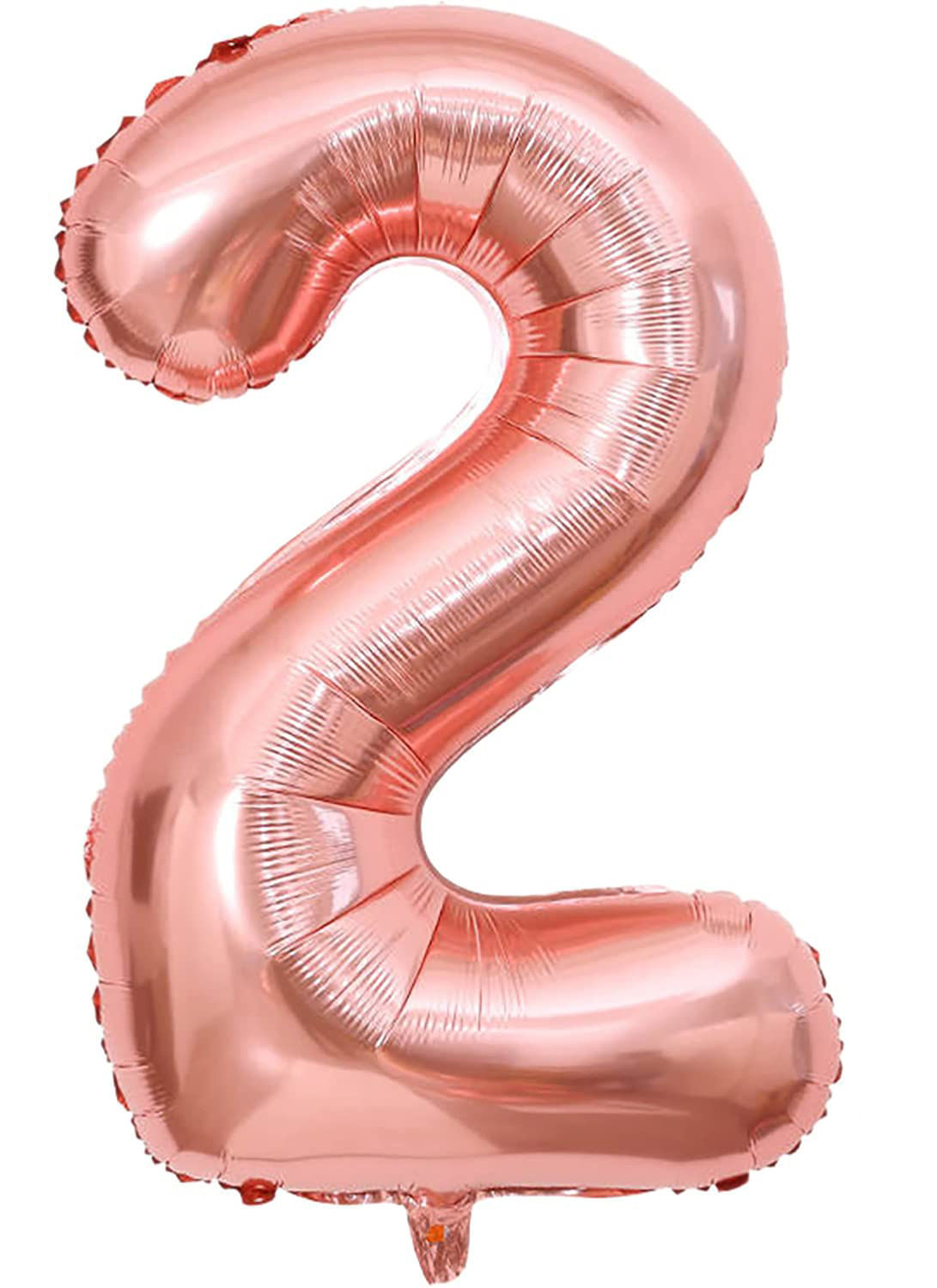 Picture of 34'' Foil Balloon Number 2 - Rose Gold (helium-filled)