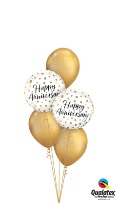 Picture of Happy Anniversary Balloon Bouquet of 5