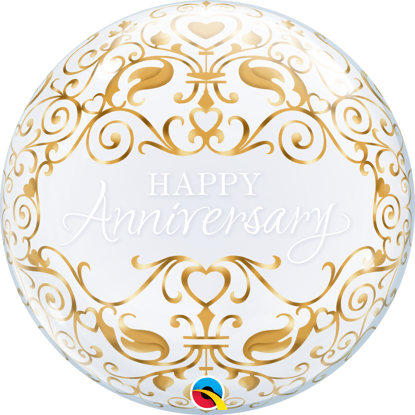 Picture of 22″ Anniversary Classic - Single Bubble Balloon (helium-filled)
